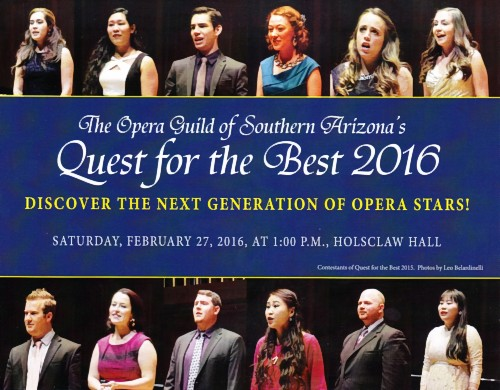 Flyer for 2016 QFTB vocal competition and reception